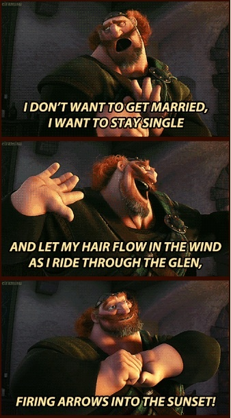 But I don't want to get married... - hahahahaha! #Brave #Pixar