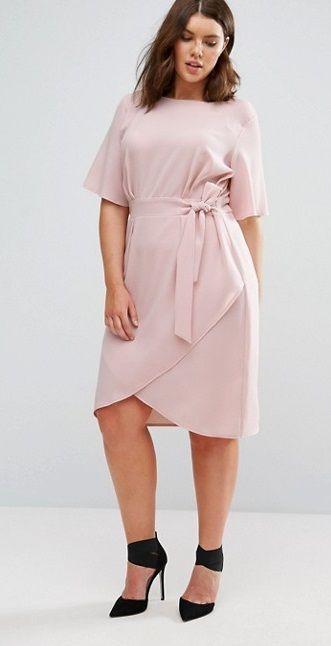 Plus Size Wrap Front Dress