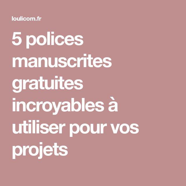 5 polices manuscrites gratuites incroyables à utiliser pour vos projets