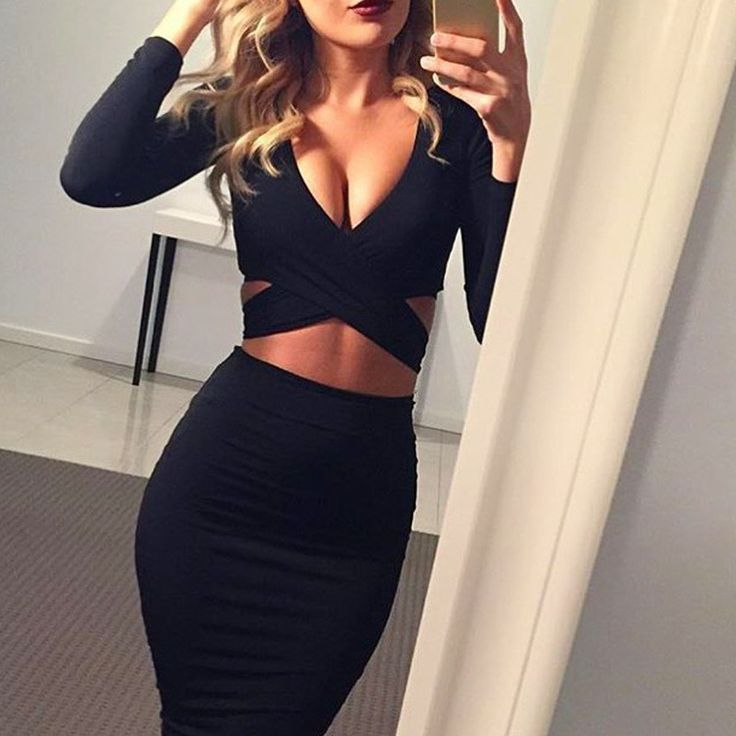 Long sleeve winter women sexy Criss nigh club wear bandage bodycon party dresses white black red women clothing
