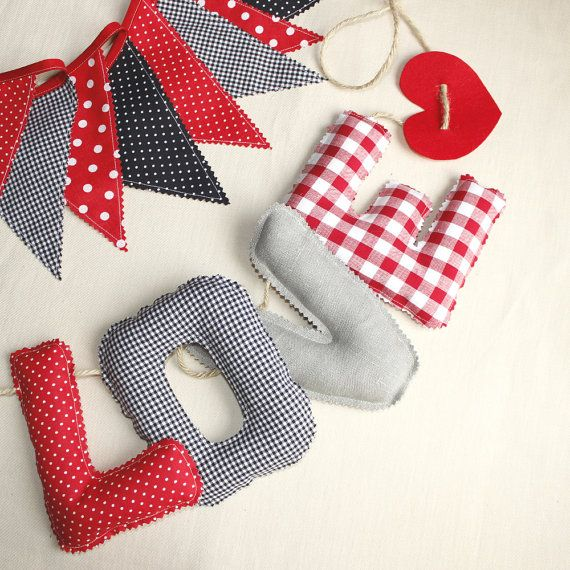 Fabric Letters Garland « LOVE