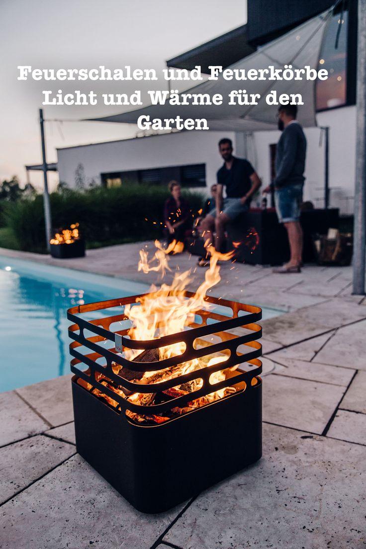 Feuerschalen und Feuerkörbe sorgen auf der Terrasse und im Garten für wohlige Wärme und angenehmes Licht. Wir stellen Ihnen besonders dekorative Modelle vor.