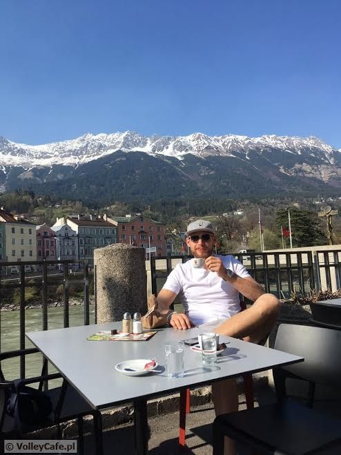 Jan Król and a cup of #coffee in #Austria #Innsbruck #siatkówka #volleyball #coffeetime #coffeelovers