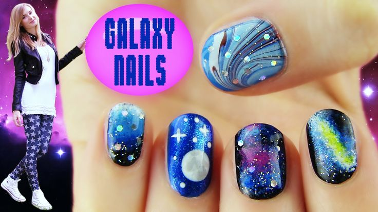 Galaxy Nails! 5 Galaxy Nail Art Designs & Ideas by SaraBeautyCorner. These r so pretty! :D