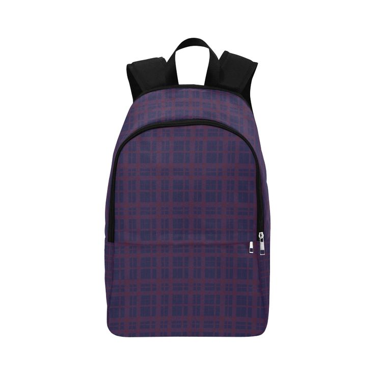 Purple Plaid Hipster Style Fabric Backpack for Adult by Scar Design  #purplebackpack #plaid #plaidbackpack #rockstyle #rockbackpack  #modern #backpack #modernbackpack #buybackpack #giftsforhim #giftsforher #coolbackpack #artsadd #scardesign