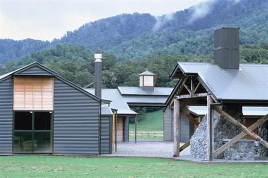 Modern horse stable wilderness vacation poronui new for Modern new zealand homes