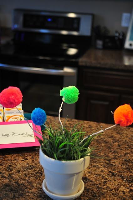 Happy Birthday Dr. Suess! DIY Truffula Trees