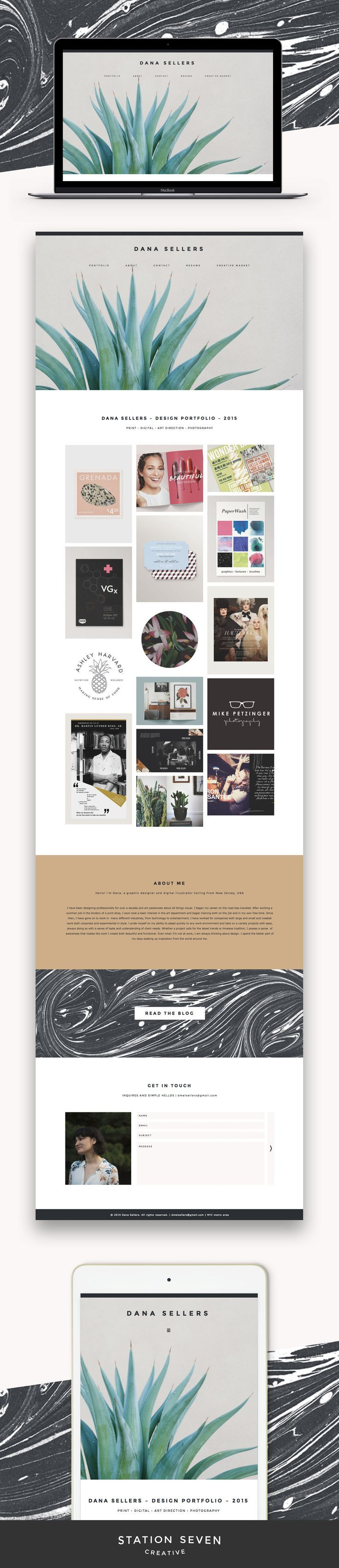 We love this modern and unique site by Dana Seller running on Station Seven's Industry WordPress theme.