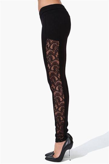 Ballet Lace Legging in Black