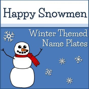 """Winter themed name plates. For use as student desks labels, sight word labels, bin labels, cubbie labels, on bulletin boards, and more!Five different designs.Labels measure 10"""" x 2.5"""" when printed at 100%* * * * * * * * * ** * * * * * * * * *Check out these matching resources:Happy Snowmen Winter Calendar SetHappy Snowmen Brag TagsHappy Snowmen Classroom Job SignsHappy Snowmen Reading SetHappy Snowmen Color Multiplication Practice Sheets & Speed Drills Happy Snowmen Black & White Mult..."""