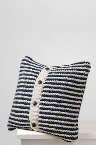 """18"""" x 18"""" Mariner Knit Decorative Pillow Cover from Lands' End"""