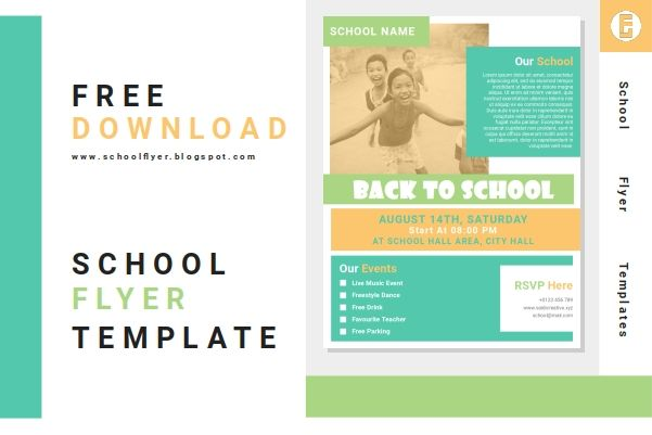 Free Back To School Flyer Templates Word Document File In 2020 Free Brochure Template Flyer Template Leaflet Template