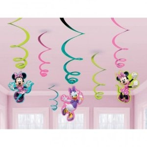 6 serpentins de dcoration disney minnie mouse roses amazonfr jeux et jouets