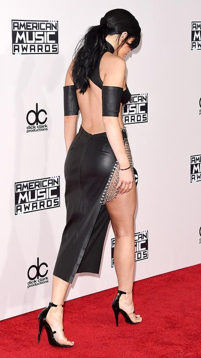 The back of Kylie Jenner's sexy Bryan Hearns dress at the AMAs