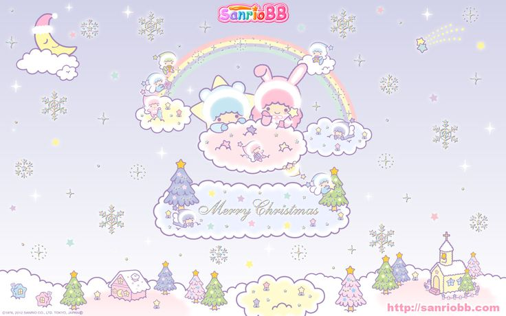 Little Twin Stars Wallpaper 2012 十二月桌布 日本 SanrioBB Present