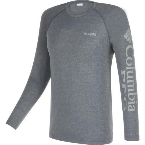 Columbia Sportswear Men's Terminal Tackle Heather Long Sleeve Shirt (Charcoal Heather/Cool Grey, Size XX Large) - Men's Outdoor Apparel, Men's Fish...