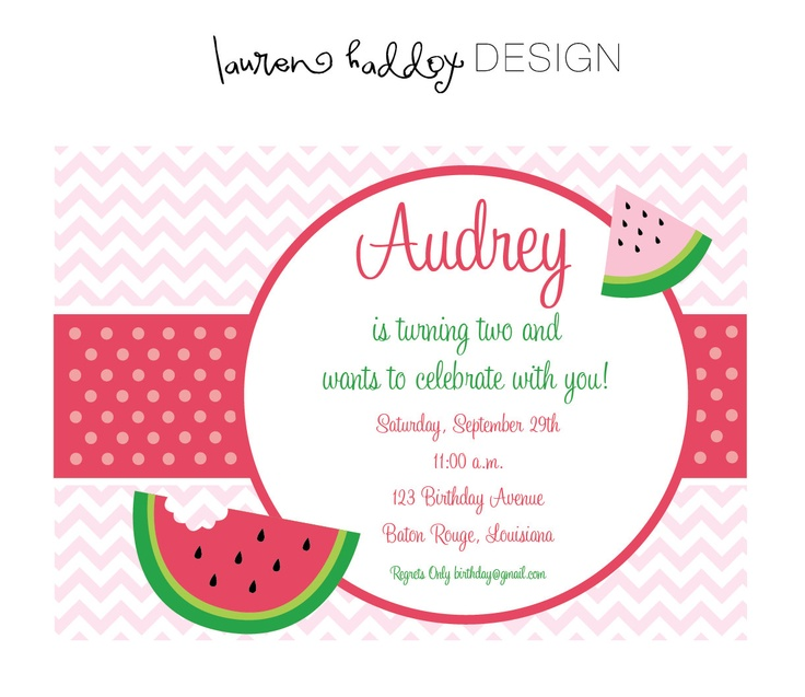 17 Best images about Watermelon birthday party ideas on Pinterest ...