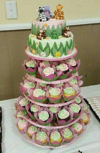 Zoo Animal Cake Tower by Jamie