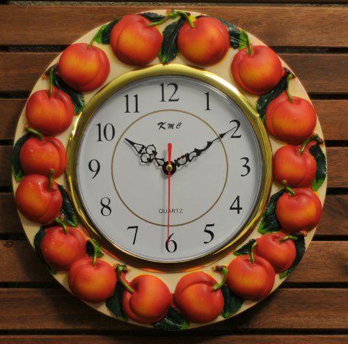 3D Peach Wall Clock KMC,http://www.amazon.com/