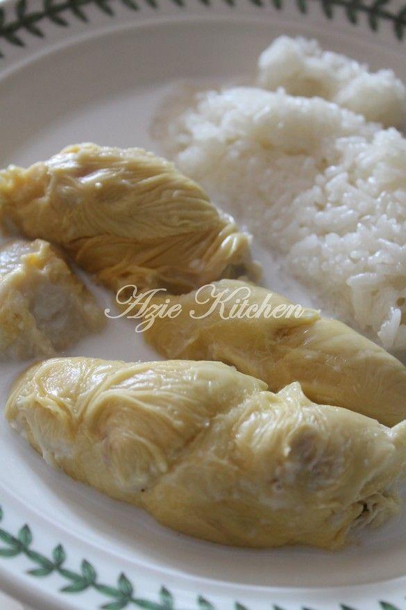 Azie Kitchen: Pulut Durian Di Hari Raya