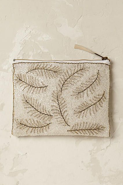 Shimmered Leaf Pouch - anthropologie.com