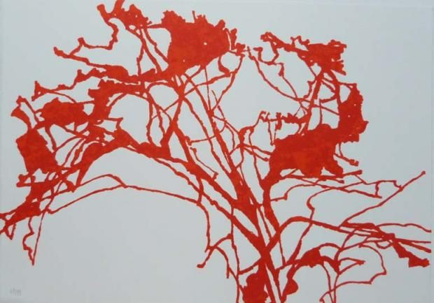 L' Arbre Rouge - Alexandre-Hollan (Lithographie 50x32.5cm)