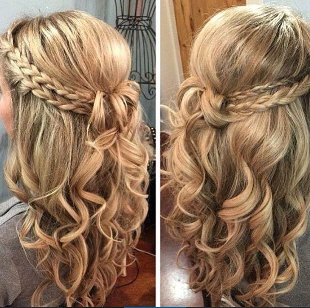 penteados com tranças e cachos fáceis