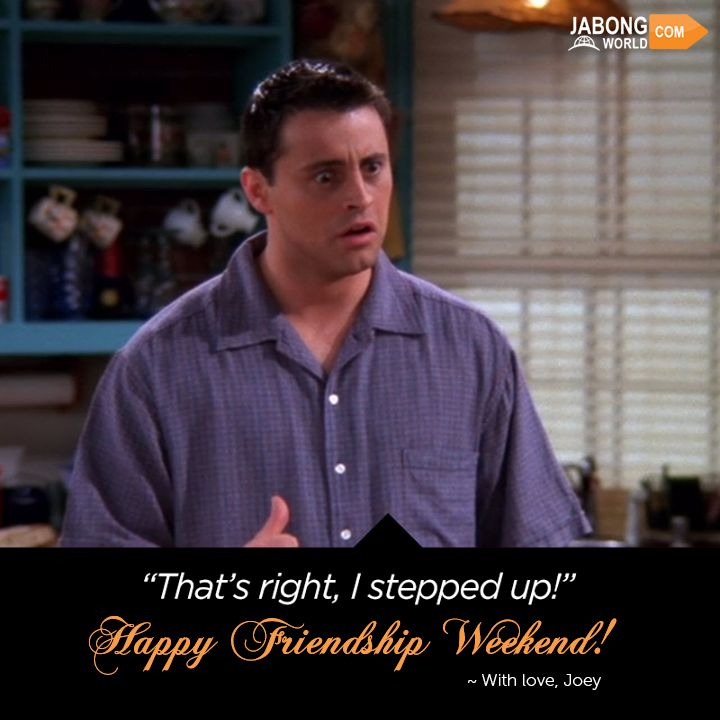 #Joey stepped up for his #FRIENDS! WOULD YOU? Tag that friend here! HAPPY FRIENDSHIP WEEKEND! :D #MattLeBlanc
