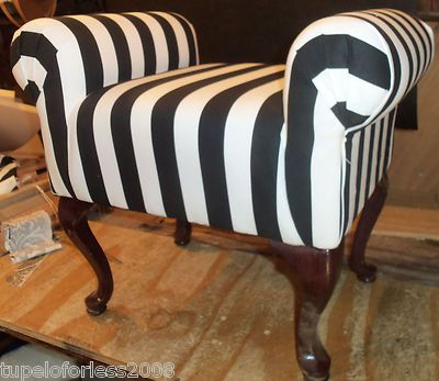 BLACK AND WHITE STRIPED SMALL BENCH SITTING STOOL QUEEN ANNE BEDROOM  FURNITURE28 best Queen Anne Style images on Pinterest   Queen anne  . Queen Anne Bedroom Furniture. Home Design Ideas