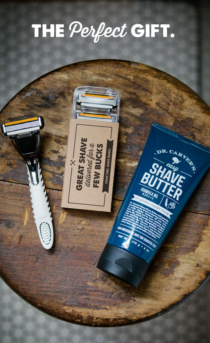We use dollar shave club. It is a lot cheaper than grocery store refills and you don't have to shop for them. We use the 5blade version (which is more that a dollar of course). Hubby uses them for his face and his whole head. He changes blades once a week.