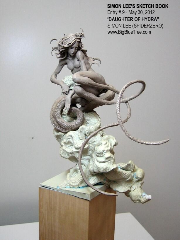 My DAUGHTER OF HYDRA sculpture from 2012 pic.twitter.com/NybisWyqyY