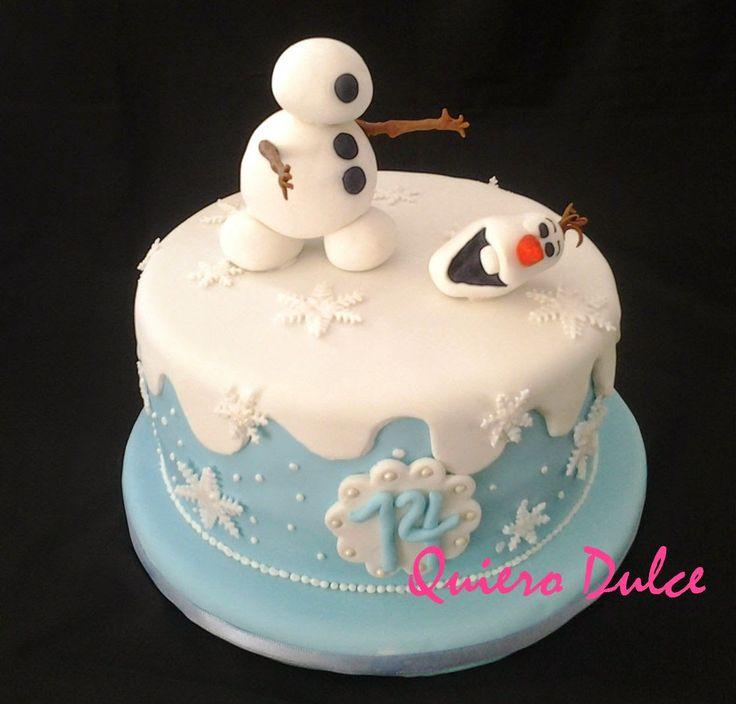 Como modelar a Olaf de Frozen y decorar torta | Cocinar en casa es facilisimo.com