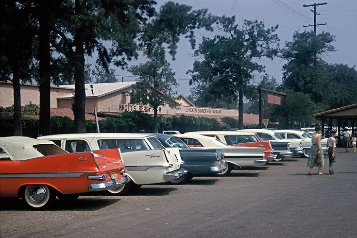 knotts berry farm in the 1960s | ... fins, parking lot at Knott's Berry Farm, 1960 - a photo on Flickriver