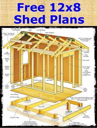 25 best ideas about storage shed plans on pinterest diy for 10x8 shed floor plans