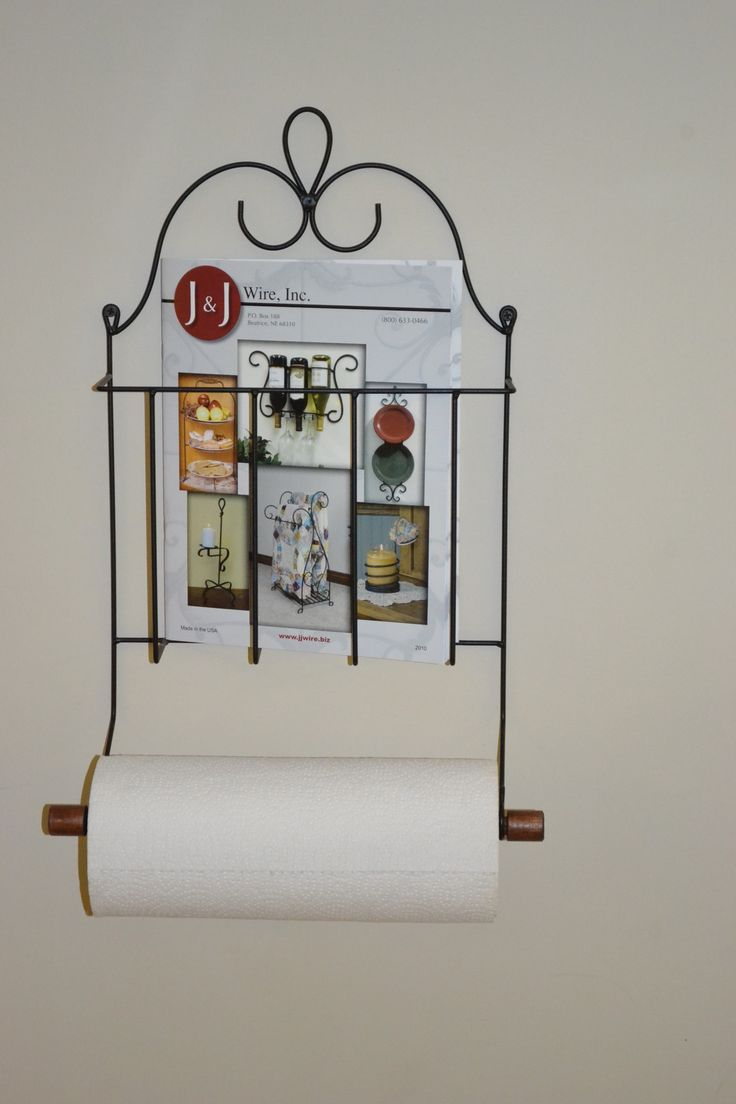 Wall Mounted Victorian Magazine Paper Towel Holder