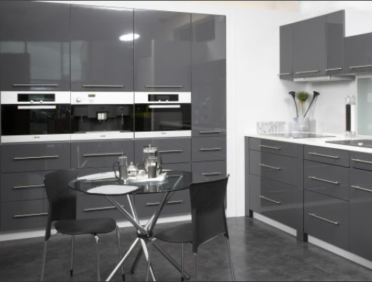 High Gloss Grey Kitchen Cabinets Euffslemanicom - Anthracite grey kitchen