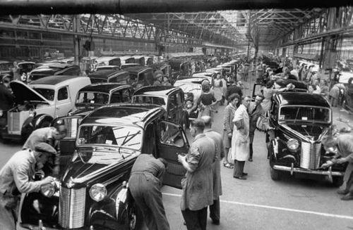 Austin Cars factory 1947