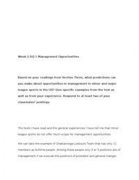 SRM325 / SRM 325 / Week 4 Assignment