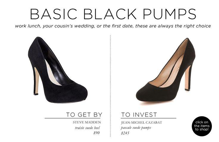 Fashion Essentials: 21 items to get you through your twenties via The Everygirl // BLACK PUMPS