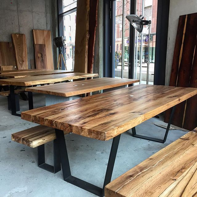 Showroom holzwerk hamburg wood table interior insta for Design esstisch hamburg
