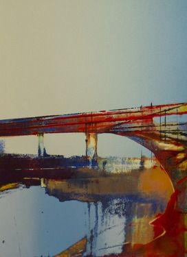 """steven heffer; Printmaking, """"cement works greenwich II 2012"""""""