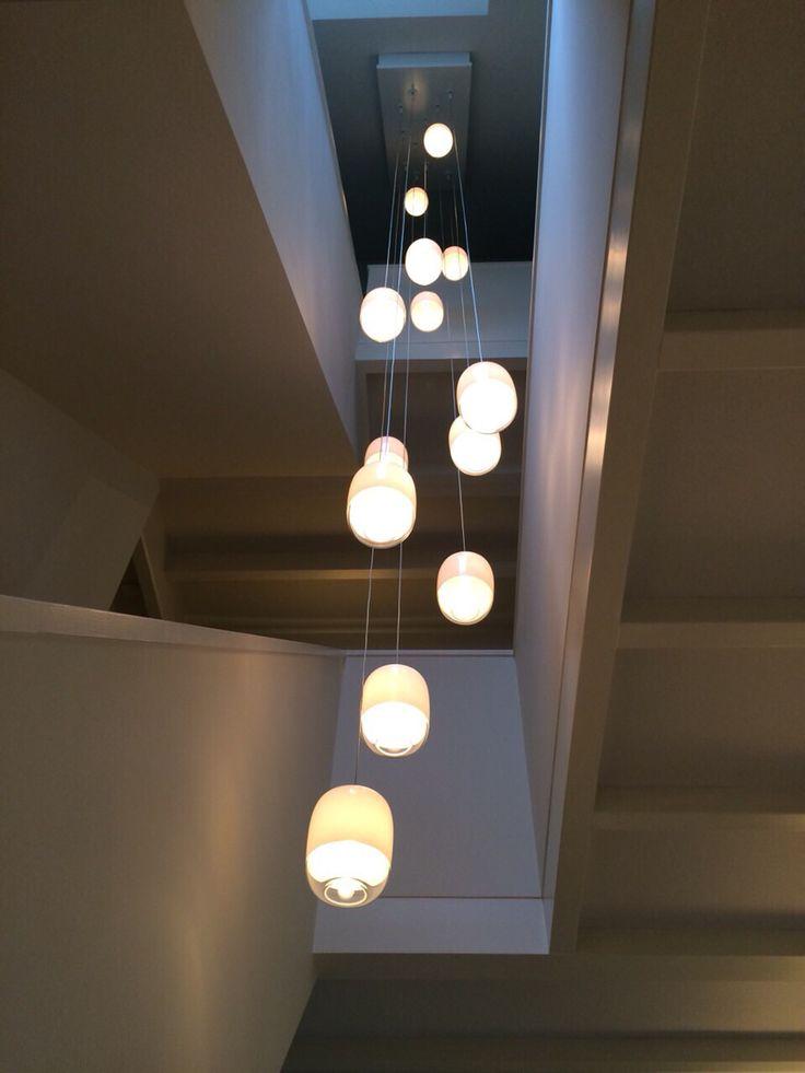 Lampjes in het trappenhuis