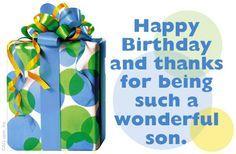 "happy birthday to a wonderful son pics | Wonderful Son"" | Birthday eCard | Blue Mountain eCards"