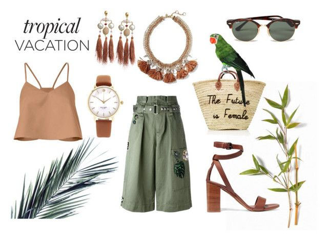 """TropicalVacation"" by szlzsnb on Polyvore featuring Ray-Ban, Vince, TIBI, Marc Jacobs, Banana Republic, Gas Bijoux and Kate Spade"