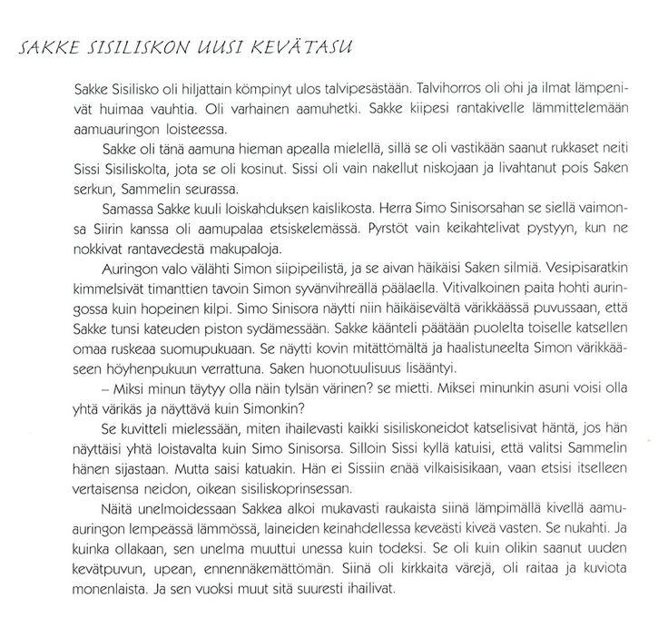 Sakke Sisiliston uusi kevätasu (taustatarina).