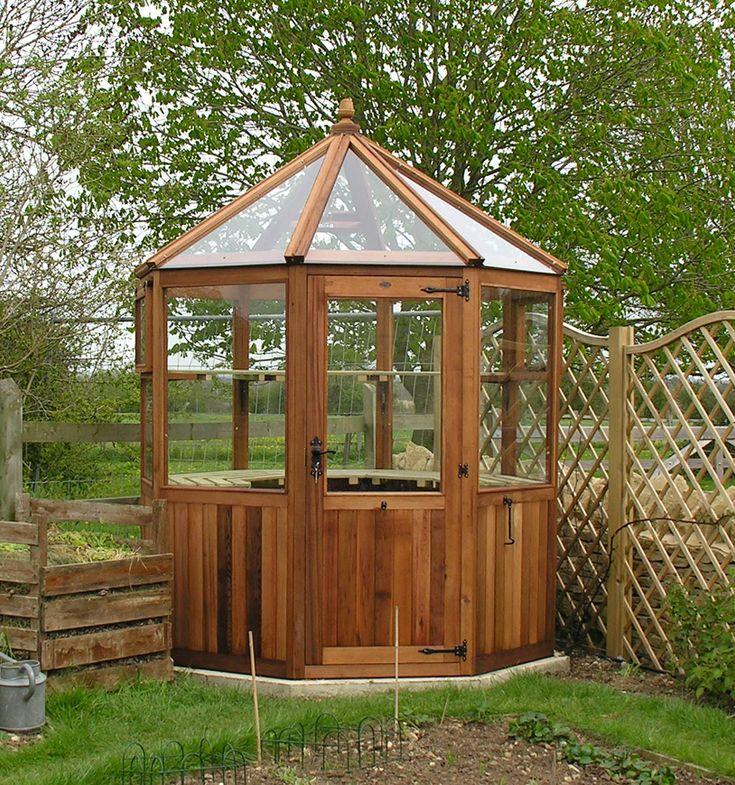 38 best cedar greenhouses images on pinterest for Octagonal greenhouse plans