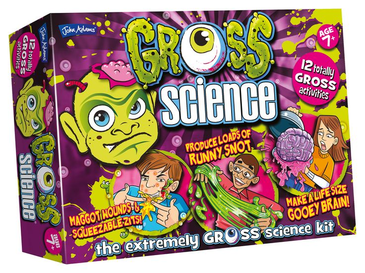 Crown & Andrews Gross Science includes 10 totally gross activities and amazing experiments like: maggot filled wounds, runny snot and a life-size gooey brain! 8 Years + $64.99