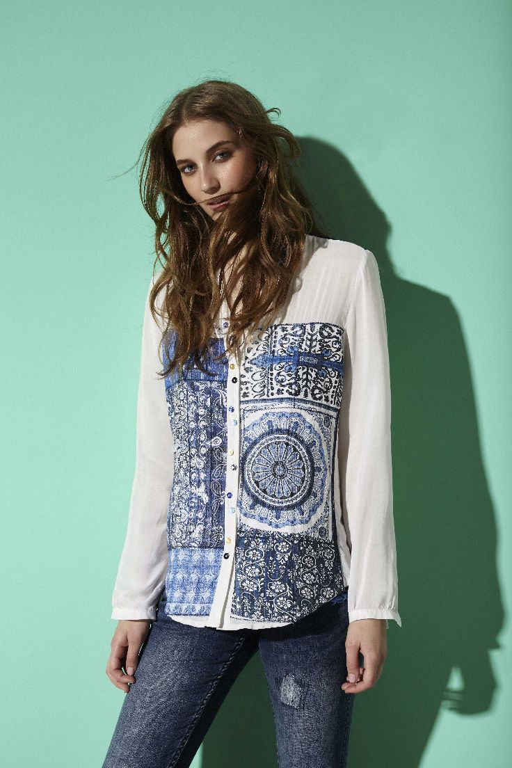 The statement flowy blouse.