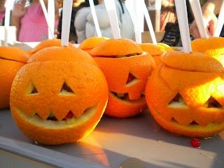 snack o lanterns fruit salads halloween food