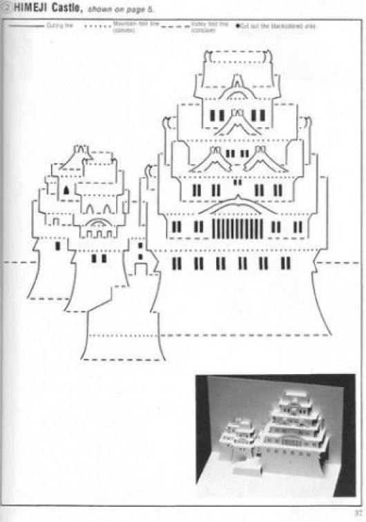 Kirigami architecture #papercrafts #paper #crafts #